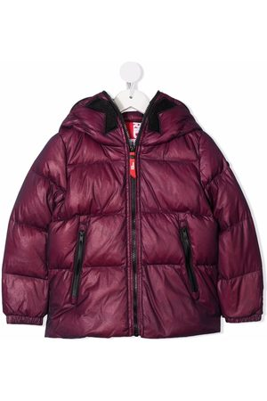 Ai Riders on the Storm Girls Puffer Jackets - Pompom-detail padded coat