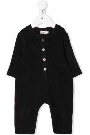 Caffe' D'orzo Baby Rompers - Delia knitted rib-trimmed romper - Grey