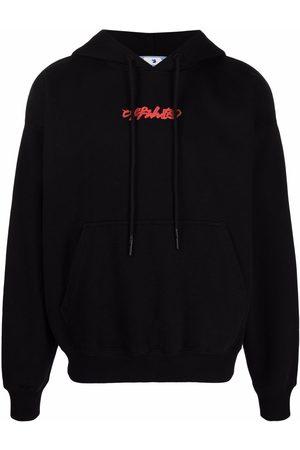 OFF-WHITE Logo-print Arrow painterly-print hoodie