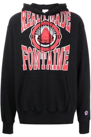 READYMADE Hoodies - Logo-print pullover hoodie