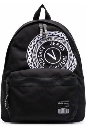 VERSACE Men Rucksacks - Embroidered-logo zipped backpack