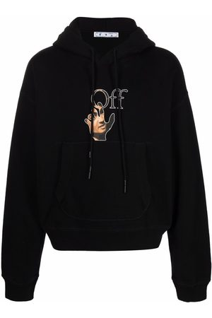 OFF-WHITE Caravaggio logo cotton hoodie