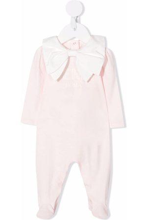 Fendi Bow-embellished stretch-cotton pajama