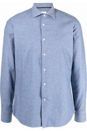 Tintoria Mattei Long-sleeved twill shirt