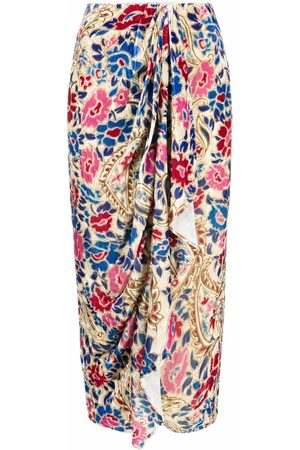 Isabel Marant Women Printed Skirts - Bree floral-print midi skirt - Neutrals