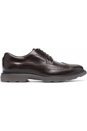 Hogan Leather lace-up derby shoes