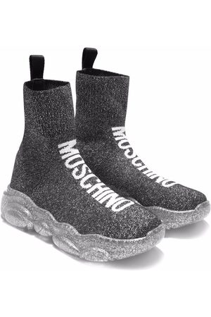 Moschino Logo knitted sneakers