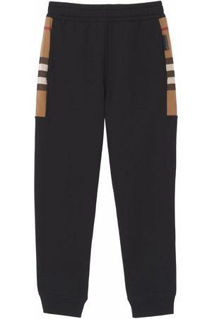 Burberry Check-pattern track pants