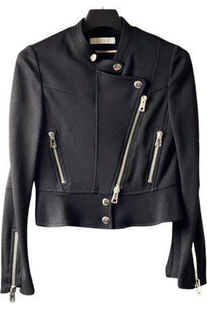Chloé Women Leather Jackets - Wool biker jacket