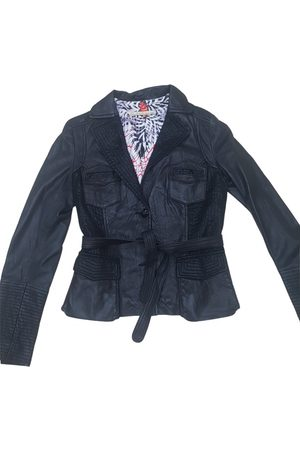 Roberto Cavalli Women Leather Jackets - Leather biker jacket