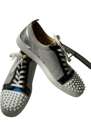 Christian Louboutin Boys Sneakers - Louis junior spike leather low trainers