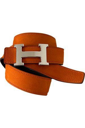 Hermès Men Belts - H leather belt