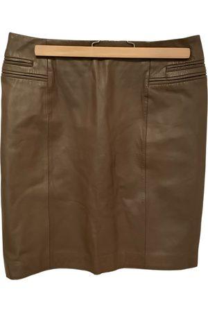 Kookai Leather mid-length skirt
