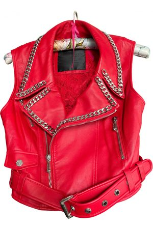 Philipp Plein Leather short vest