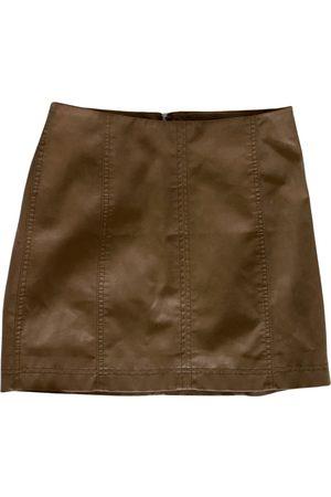 Free People Women Mini Skirts - Vegan leather mini skirt