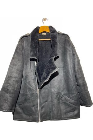 SHEARLING Leather caban