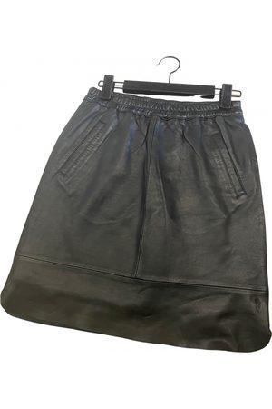Coster Copenhagen Leather mini skirt