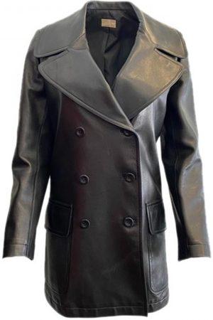 Alaïa Women Leather Jackets - Leather blazer