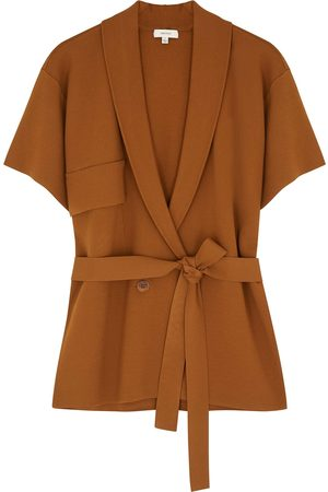 Oroton Belted knitted jacket