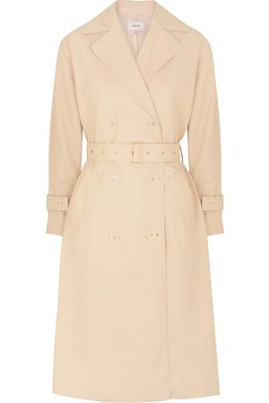 OROTON Blush double-breasted cotton-blend trench coat