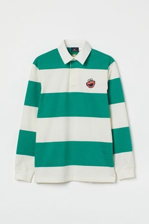 H&M Regular Fit Embroidery-detail Rugby Shirt