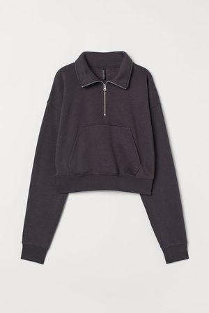 H&M Women Sweatshirts - Half-zip Sweatshirt
