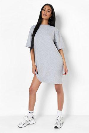 Boohoo Womens Tall Basic Oversized T-Shirt Dress - - 2