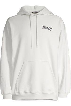 Balenciaga Campaign Logo Cotton Hoodie