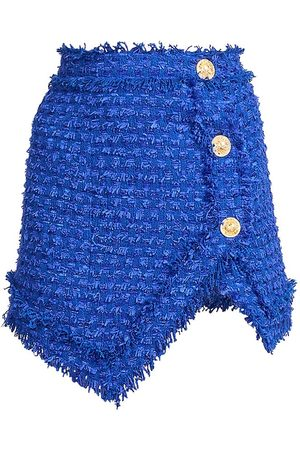 Balmain Asymmetrical Tweed Mini-Skirt