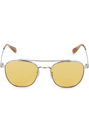 Oliver Peoples Mandeville 49MM Brushed Double-Bridge Sunglasses