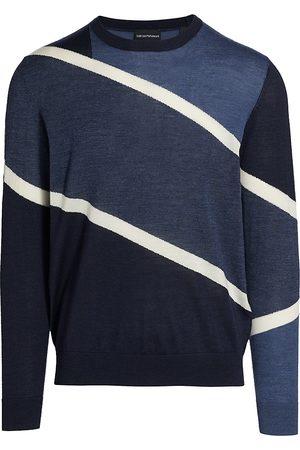 Emporio Armani Intarsia Color-Blocked Sweater