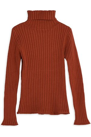 Mini Molly Girl's Ribbed Turtleneck Sweater