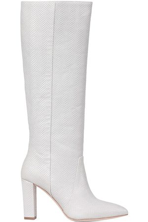 Paige Carmen Knee-High Snake-Embossed Leather Boots