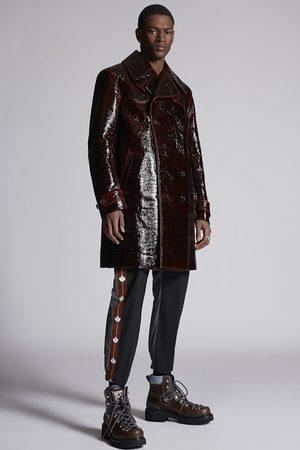 Dsquared2 Men Coats - Men Coat Maroon