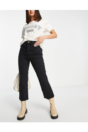 River Island High waisted kick flared jeans in
