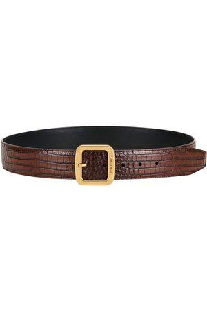 Tom Ford Men Belts - Croc-Embossed Leather Belt