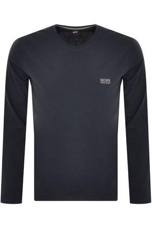 HUGO BOSS BOSS Crew Neck Long Sleeve T Shirt Navy