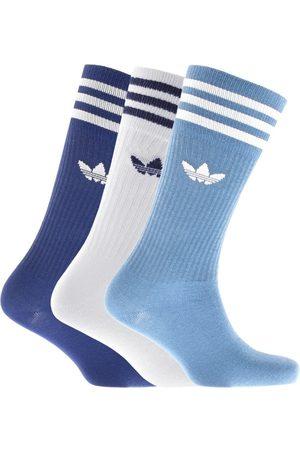 adidas Three Pack Solid Crew Socks