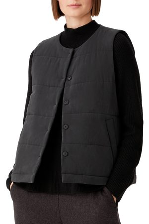 Eileen Fisher Women's Quilted Fuji Silk Vest