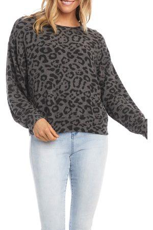 Karen Kane Women's Animal Print Sweatshirt
