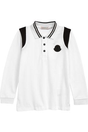 Moncler Long Sleeve - Infant Stripe Collar Long Sleeve Cotton Pique Polo