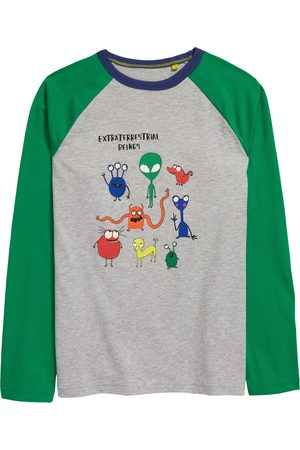 Boden Toddler Boy's L.L.Bean Kids' Extraterrestrial Glow In The Dark Long Sleeve Graphic Tee