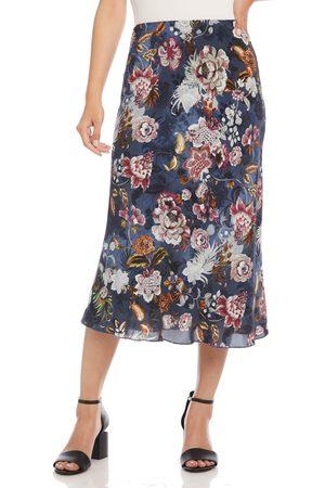 Karen Kane Women's Bias Cut Floral Midi Skirt