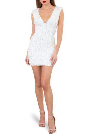 HELSI Women's Jodi Sequin Padded Shoulder Sleeveless Minidress