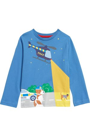 Boden Toddler Boy's Kids' Glow In The Dark Long Sleeve Cotton Graphic Tee