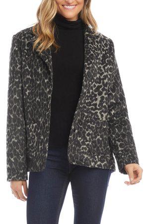 Karen Kane Women's Animal Pattern Jacquard Blazer