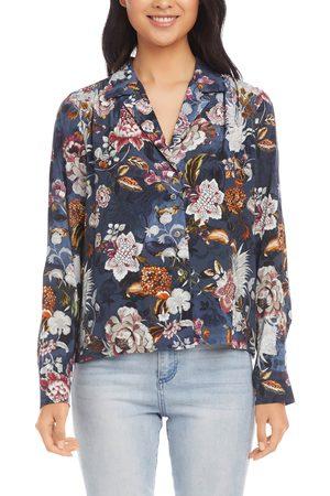 Karen Kane Women Shirts - Women's Floral Button-Up Shirt