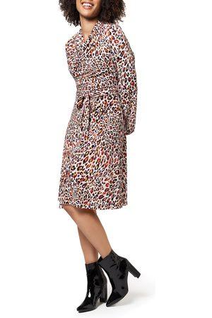 Leota Women Printed Dresses - Women's Mallory Animal Print Long Sleeve Dress