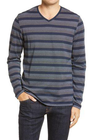 Robert Barakett Men's Eastcastle Long Sleeve Cotton V-Neck T-Shirt