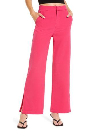 Amy Lynn Women Straight Leg Pants - Women's Side Slit Straight Leg Pants